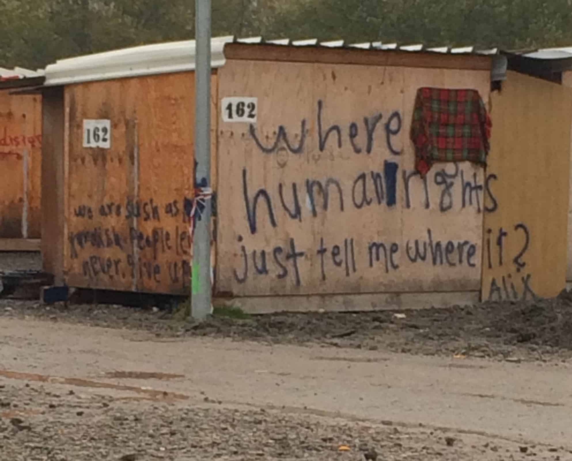 Anger, shame and awe, a reflection on visiting a refugee camp in Dunkirk