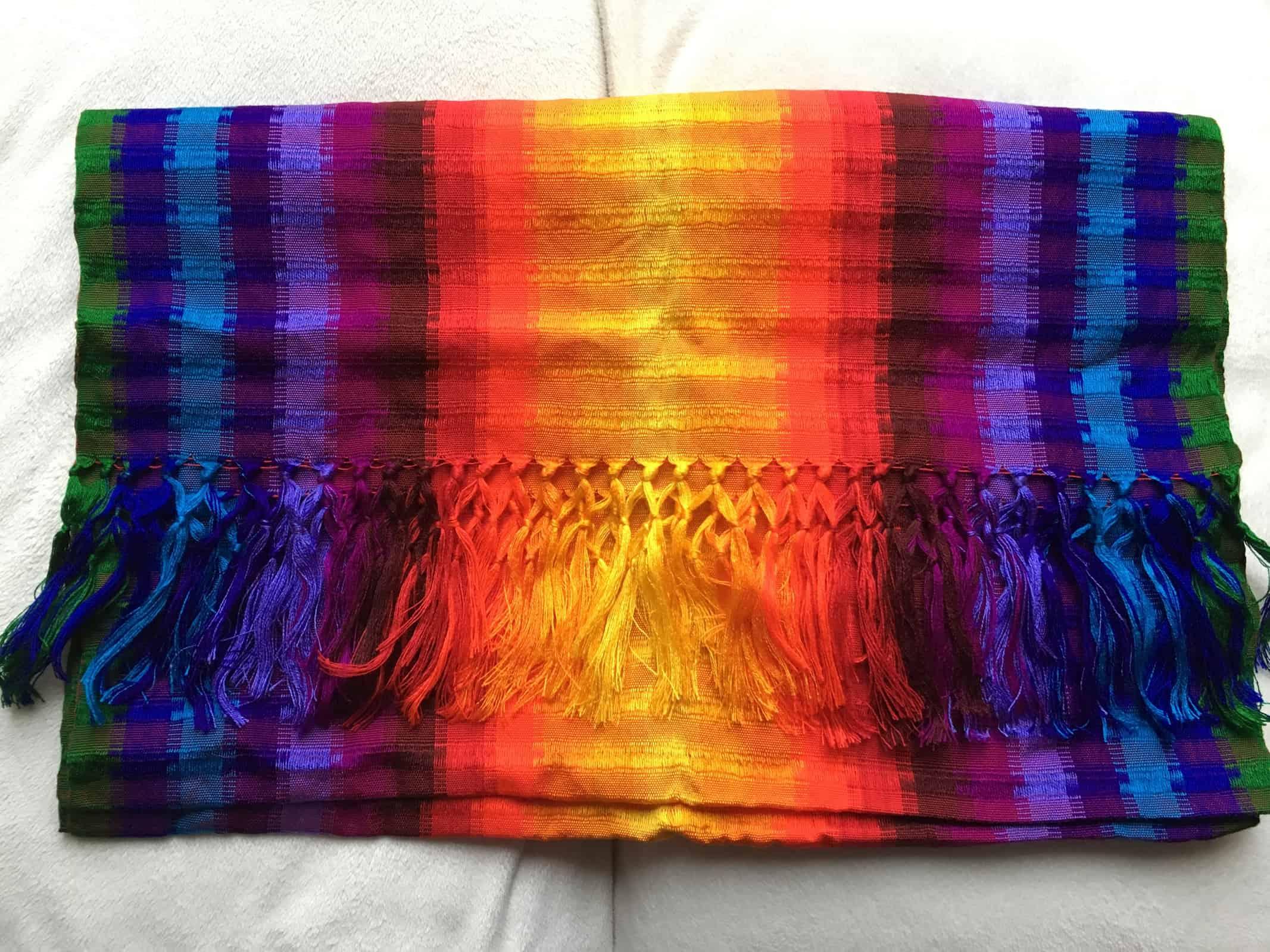 Rainbow rebozo from Guatemala